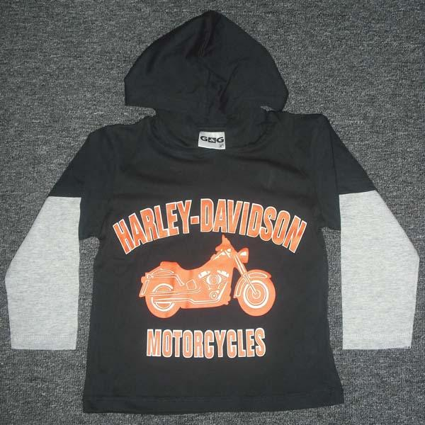 Boys Hooded Full Sleeve twin T shirt